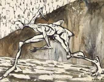 Mao Xuhui-Human Figure in White: Escape-1989