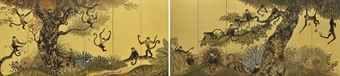 Enoki Toshiyuki-Joyful monkey; & Playful Monkey-2014