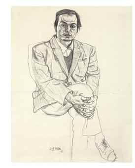 Liu Xiaodong-Seated Man in Suit-1988