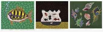 Yayoi Kusama-Goldfish Bowl; Shellfish; & Depth of the Sea-1989