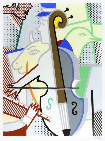 Roy Lichtenstein-Cubist Cello-1997