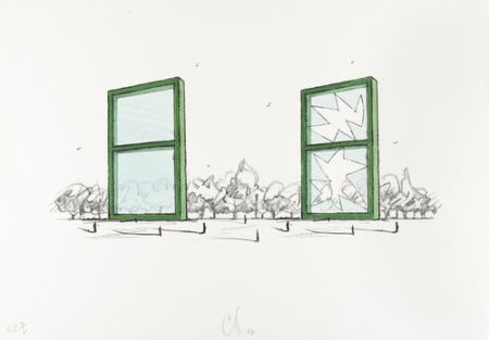 Claes Oldenburg-Proposal for a Civic Monument in the Form of Two Windows-1982