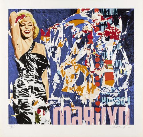 Mimmo Rotella-Marilyn-2001