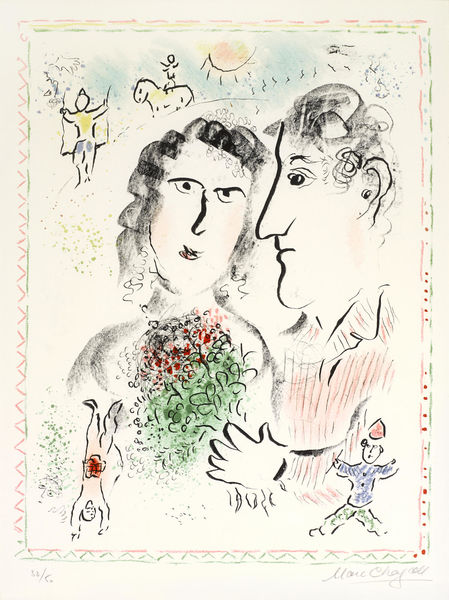 Marc Chagall-Engagement at the Circus-1983
