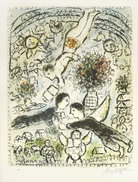 Marc Chagall-The Sky-1984
