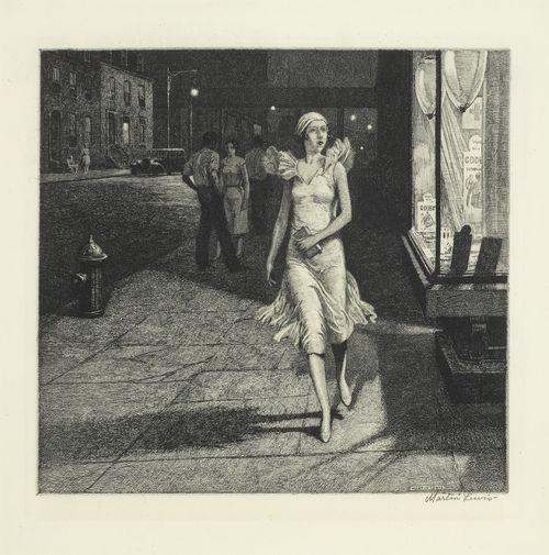 Martin Lewis-Night in New York-1932