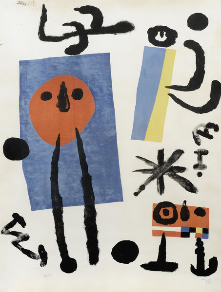 Joan Miro-Family of Bird-Catchers-1955