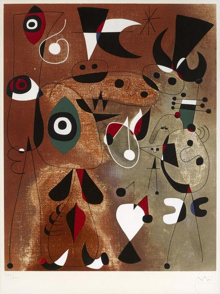 Joan Miro-After Joan Miro - Femmes, Oiseaux, Etoile-1960