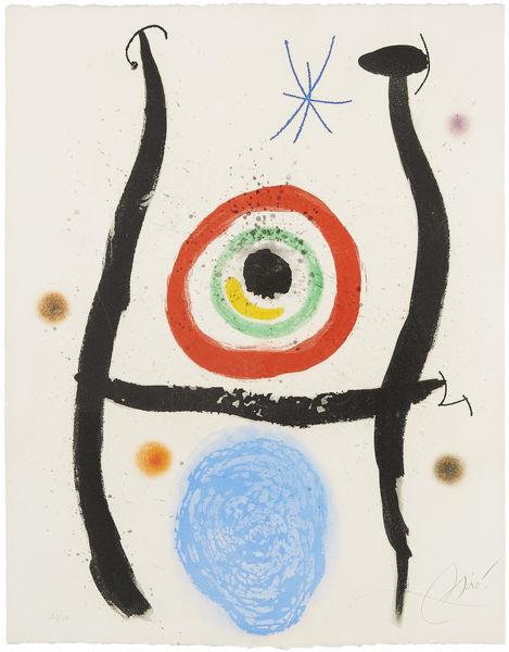 Joan Miro-Le Bleu de la Cible-1974