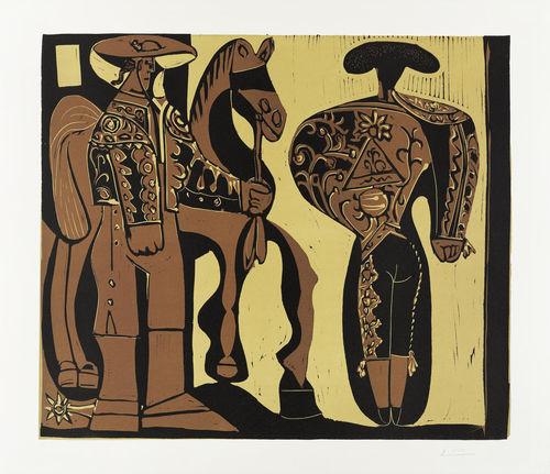 Pablo Picasso-Picador et Torero-1959