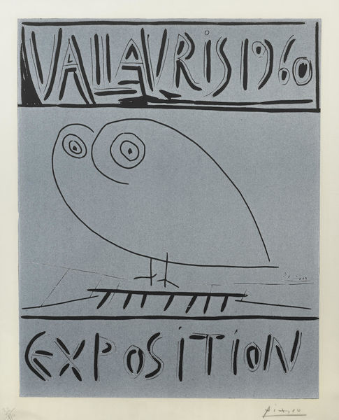 Pablo Picasso-Vallauris 1960 Exposition-1960