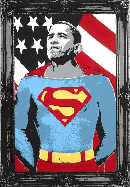 Mr. Brainwash-Obama Superman-2008