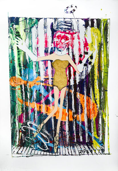 Jonathan Borofsky-Dancing Clown at No. 2964779-1986