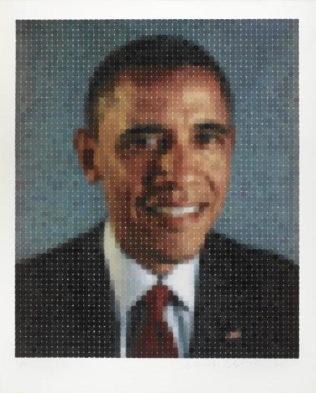 Chuck Close-Obama (II)-2012