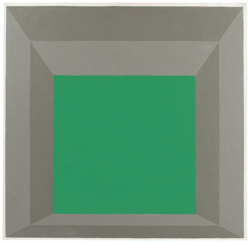 Josef Albers-Study For Homage To The Square: Oracle-1961