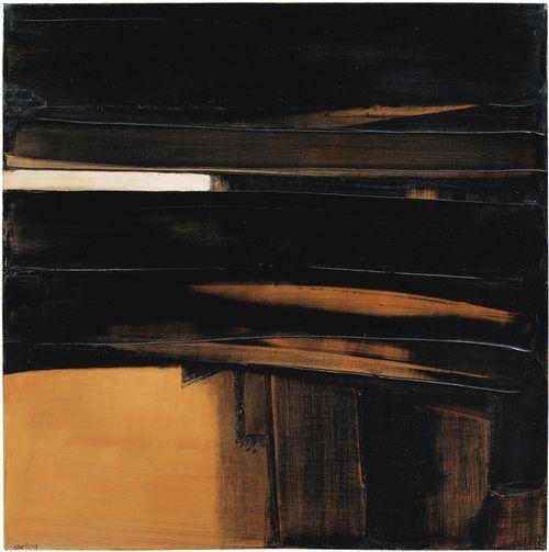 Pierre Soulages-Peinture 81 x 81 cm, 20 Juin 1978-1978