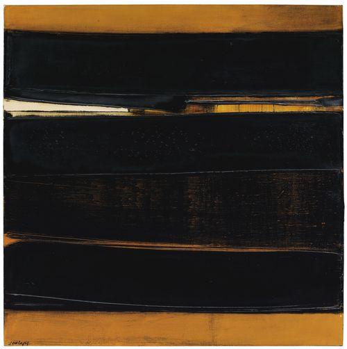 Pierre Soulages-Peinture 81 x 81 cm, 14 Juin 1978-1978