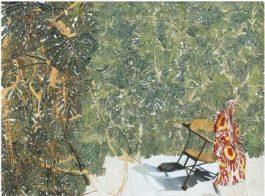 Sam Szafran-Lilette En Ikat Assise Sur Le Banc Gaudi-2010