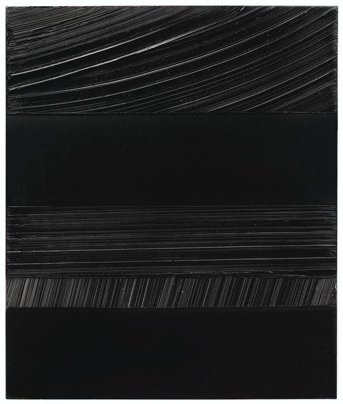 Pierre Soulages-Peinture 65 x 54 cm, 28 Juin 1990-1990