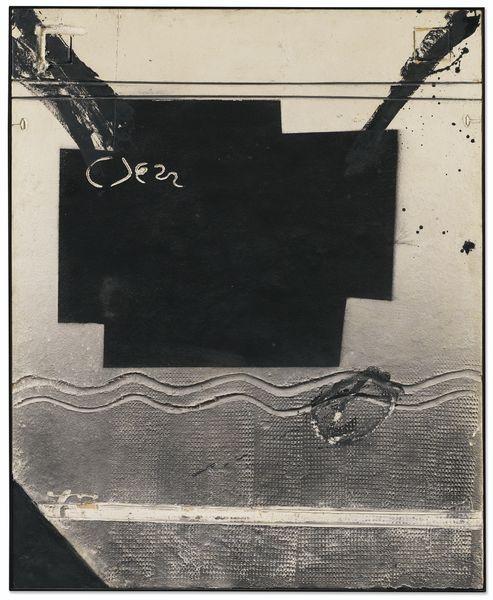 Antoni Tapies-Cruz Negra Y Sinuoso-1979
