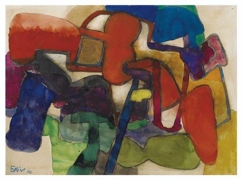 Maurice Esteve-Petit Jardin Aux Grandes Fleurs-1960