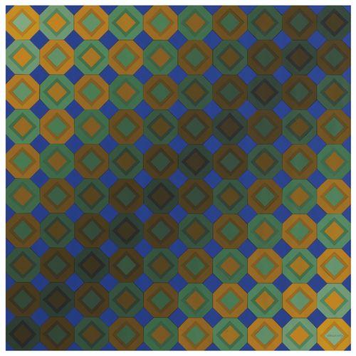 Victor Vasarely-Zoeld-Okta-1974