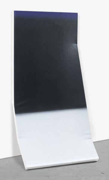 Kaz Oshiro-Untitled Still Life (Abstract Painting In Dark Gray, Light Gray And Purple)-2010