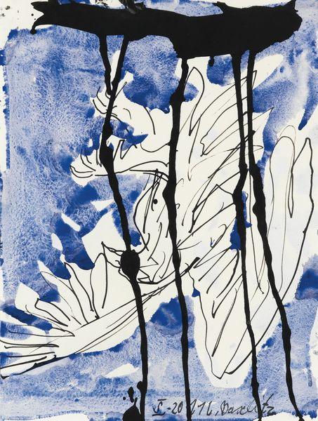 Georg Baselitz-Sans Titre (Aigle)-2011