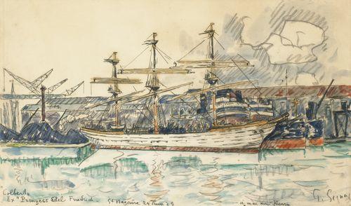 Paul Signac-Saint-Nazaire. Le Colbert, 24 Juin 1929-1924