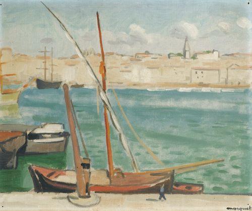 Albert Marquet-Marseille, Le Quai De Rive-Neuve-1916