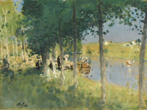 Pierre Eugene Montezin-Canotage-