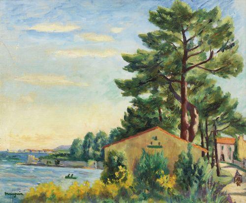 Henri Charles Manguin-Saint Tropez Vu De La Moune-1930