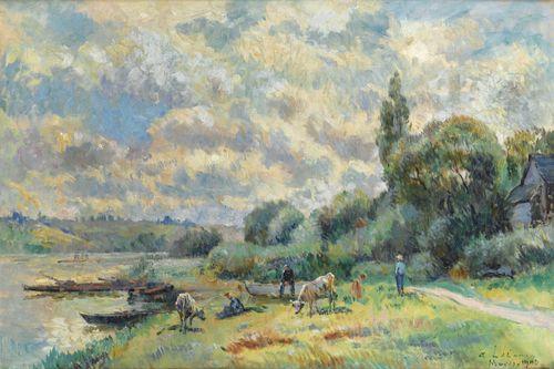 Albert Lebourg-Les Bords De SeineA Muids-1903
