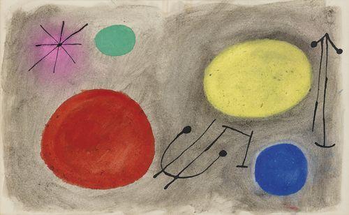 Joan Miro-Projet Pour Bagatelles Vegetales-1956