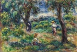 Pierre-Auguste Renoir-Paysage Bleu-1915
