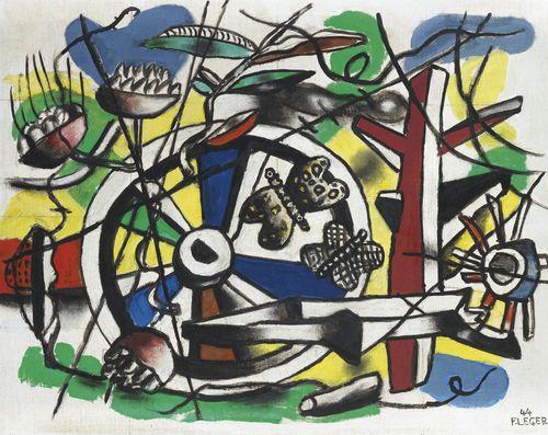 Fernand Leger-Les Papillons Dans La Roue-1944