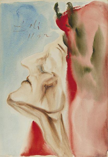 Salvador Dali-Le Nouveau Doute De Dante, Illustration Pour Le Paradis, Chant 7 Pour L'Ouvrage De Dante Aliguieri Illustre Par Salvador Dali, /La Divine Comedie/, Joseph Foret, Les Heures Claires (1959-1963)-1952