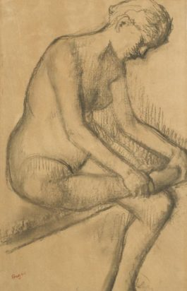 Edgar Degas-Apres Le Bain-1896