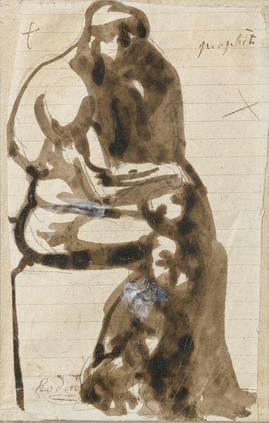 Auguste Rodin-Prophete, Etude Pour Le Penseur (Recto); Etude Pour Ugolin? (Verso)-1880