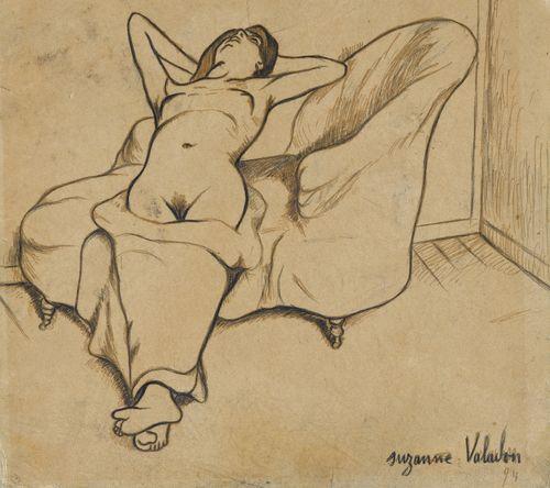 Suzanne Valadon-Nu Au Canape-1894