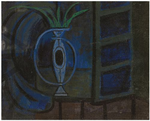 Oscar Dominguez-Vase Devant La Fenetre-1956