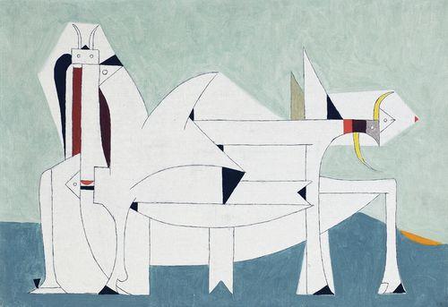 Oscar Dominguez-Composition-1950
