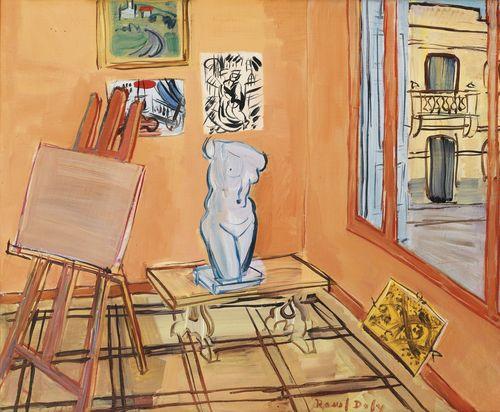 Raoul Dufy-Atelier Au Torse Et Au Carton Jaune-1943