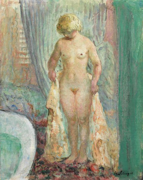 Henri Baptiste Lebasque-Nu Blond A La Baignoire-1935