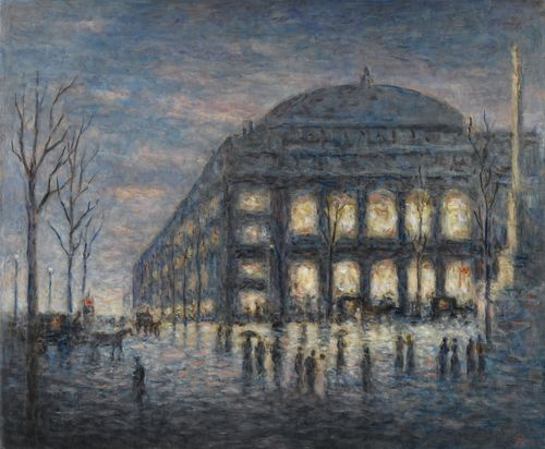 Maximilien Luce-Paris, La Place DuTheatre Du Chatelet-1900