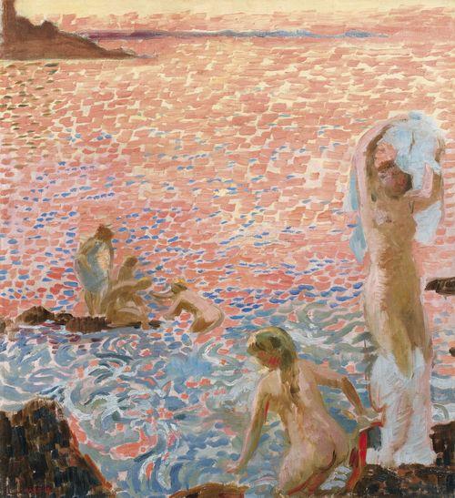 Maurice Denis-Baigneuses Au Crepuscule-1912