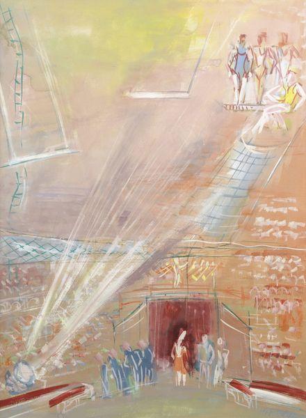 Jean Dufy-Les Trapezistes-