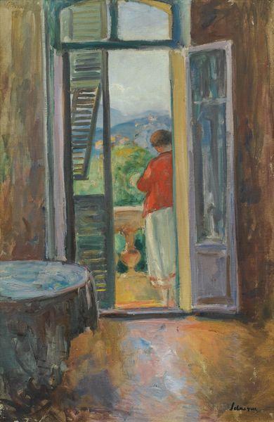 Henri Baptiste Lebasque-Sur Le Balcon, Au Cannet-1925