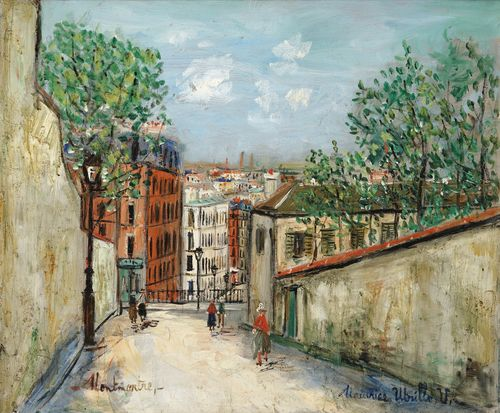 Maurice Utrillo-Rue Du Mont-Cenis, Montmartre-1948
