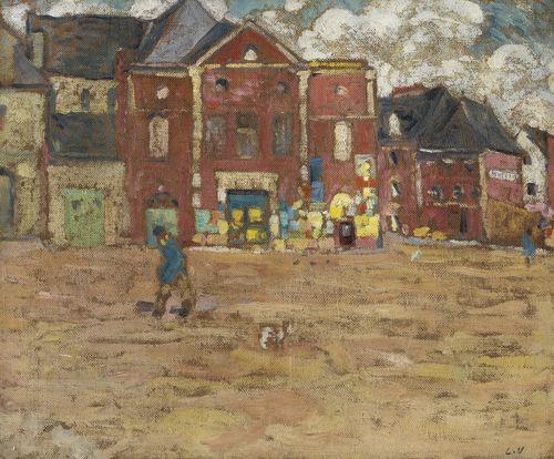 Louis Valtat-Bernay, La Place De L'Abbatiale-1895